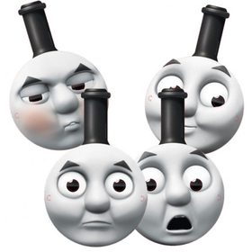 CARD FACE MASK (Packs of 4) THOMAS